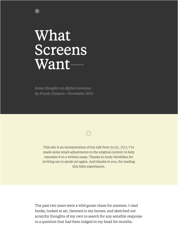 What Screens Want webpage 4