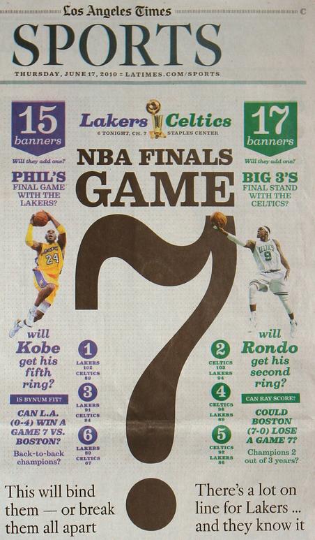 Los Angeles Times Sports: 2010 NBA Finals 1