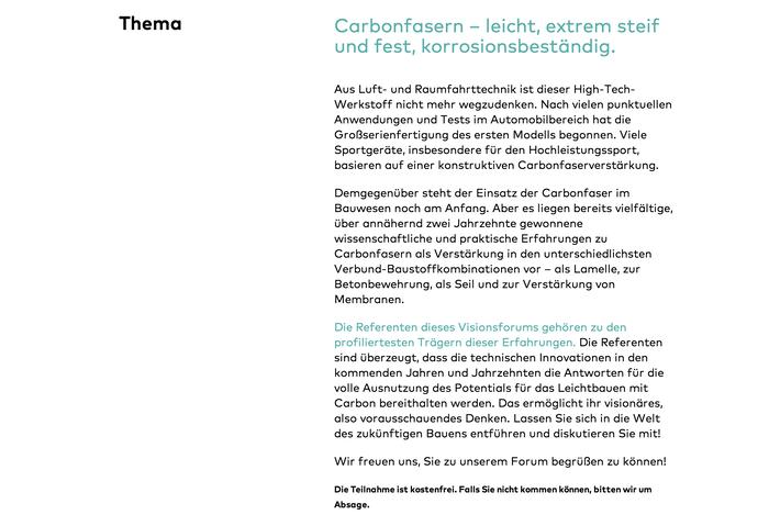 Bauen mit Carbon (Building with Carbon) Conference 2