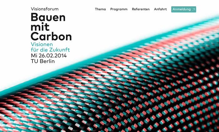 Bauen mit Carbon (Building with Carbon) Conference 1