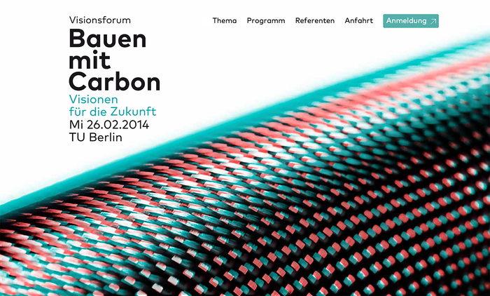 Bauen mit Carbon (Building with Carbon) Conference 1