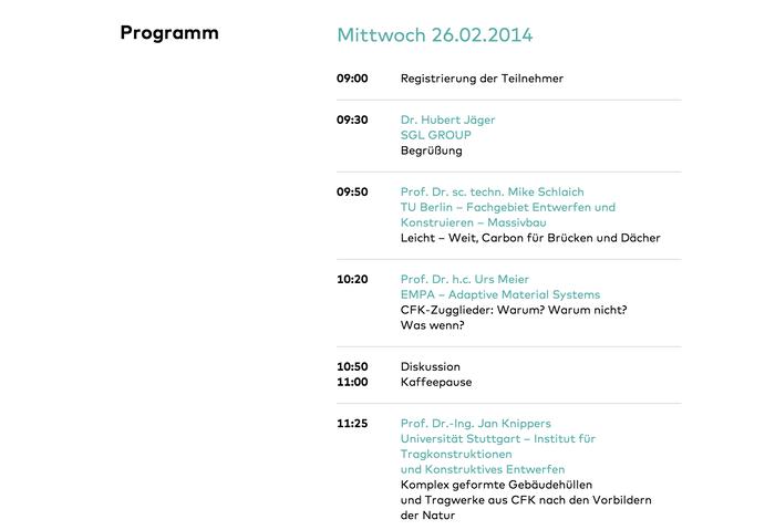 Bauen mit Carbon (Building with Carbon) Conference 5