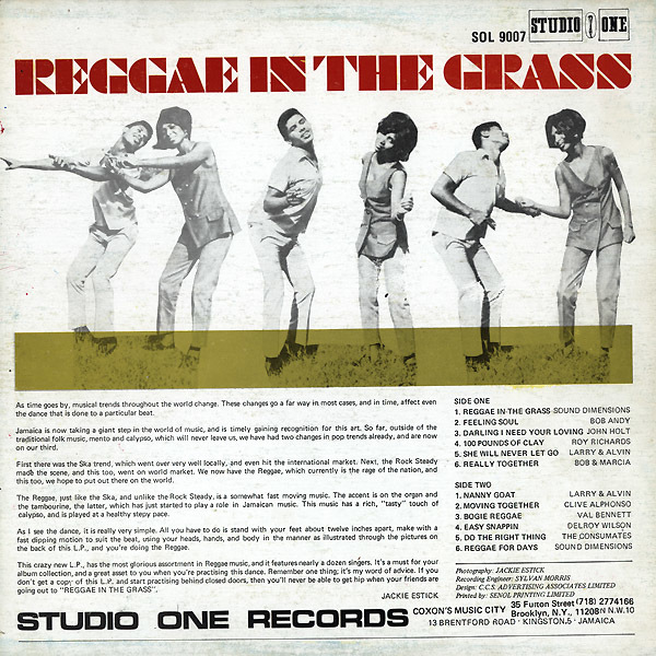 Reggae In The Grass compilation album cover 1
