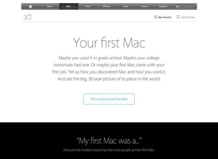 Thirty Years of Mac website 4