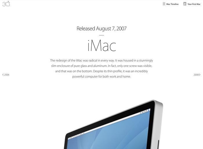 Thirty Years of Mac website 7