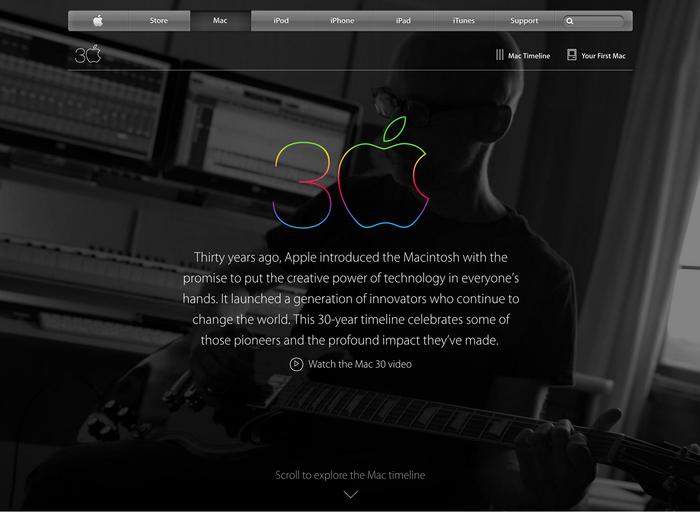 Thirty Years of Mac website 8