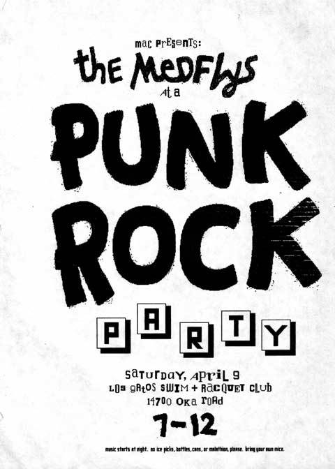 """The Mac group worked hard, but we occasionally had parties thrown by Apple for the team, sometimes with unusual themes. This poster promoted our 'Punk Party', which we were supposed to attend in 'punk' attire."""