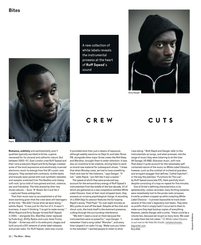 The Wire magazine, January 2013 single page