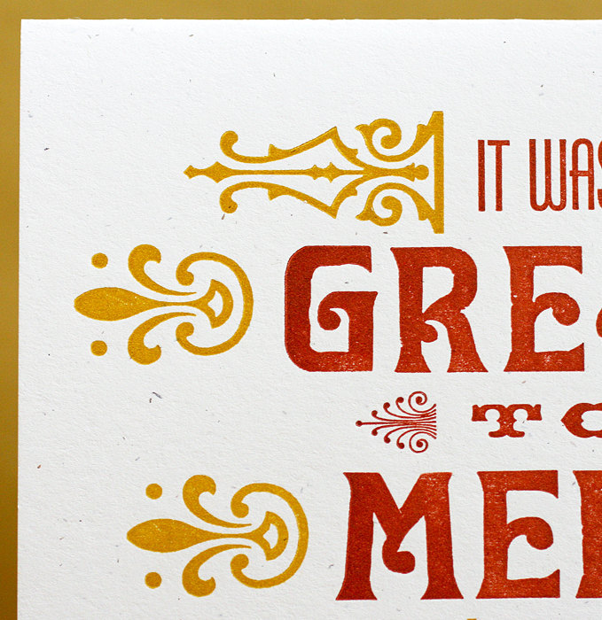 """Great To Meet You"" letterpress card 1"