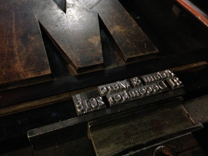 """Mr and Mr"" letterpress print 1"