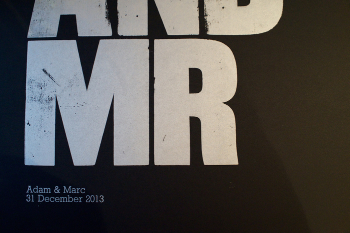 """Mr and Mr"" letterpress print 4"