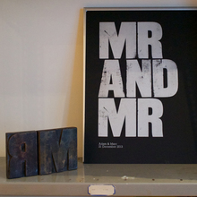 """Mr and Mr"" letterpress print"