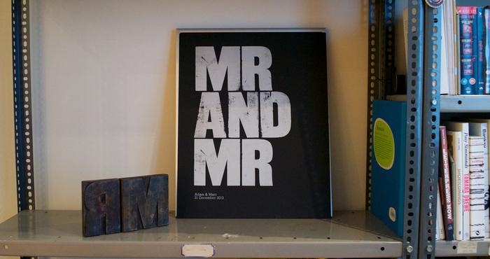 """Mr and Mr"" letterpress print 5"