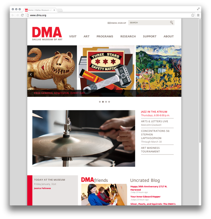 Dallas Museum of Art website 1