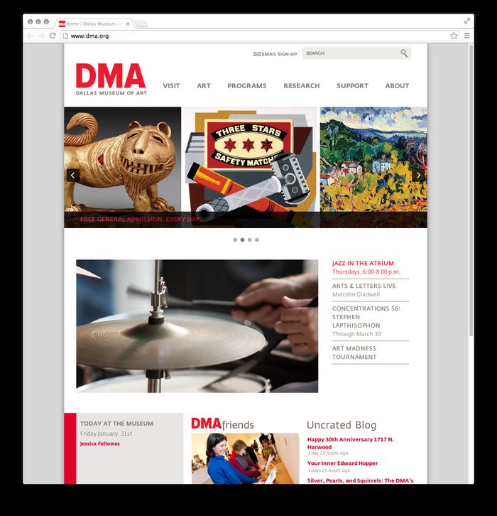 Dallas Museum of Art website 1