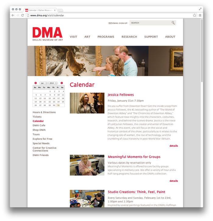 Dallas Museum of Art website 2