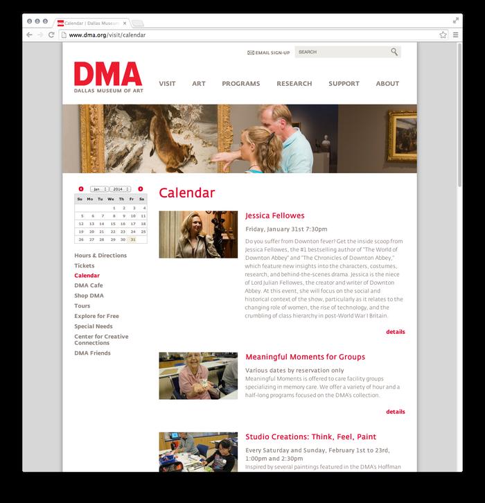 Dallas Museum of Art website 2