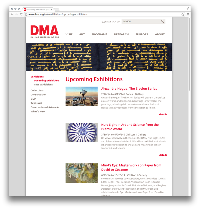 Dallas Museum of Art website 4