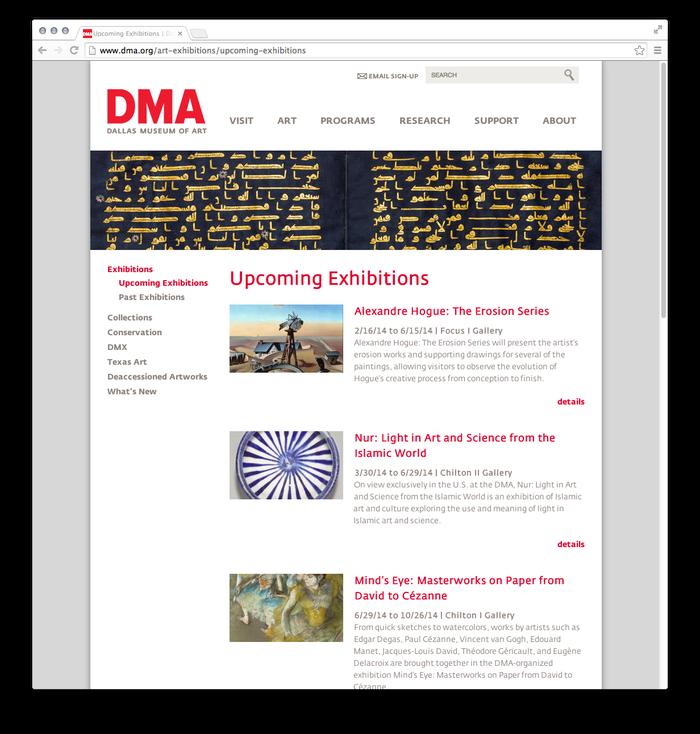 Dallas Museum of Art website 4
