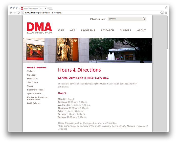 Dallas Museum of Art website 5