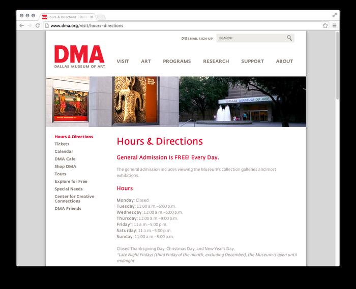 Dallas Museum of Art website 5