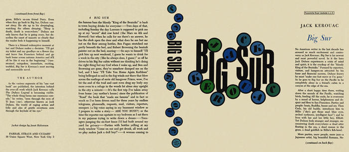 Big Sur by Jack Kerouac, first edition 7