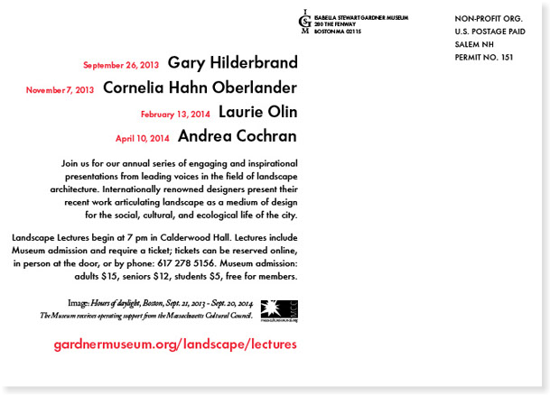 Gardner Museum Landscape Lectures 2