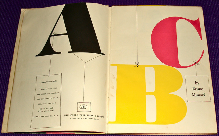 Bruno Munari's ABC, First Edition and Chronicle Books Edition 5