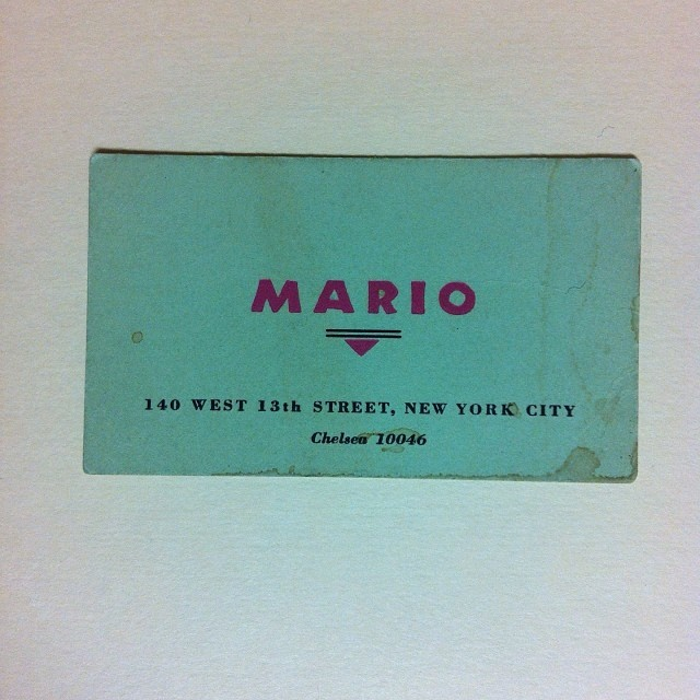Mario Restaurant, New York City 1