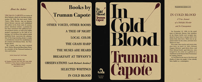 In Cold Blood, 1965 first edition 9