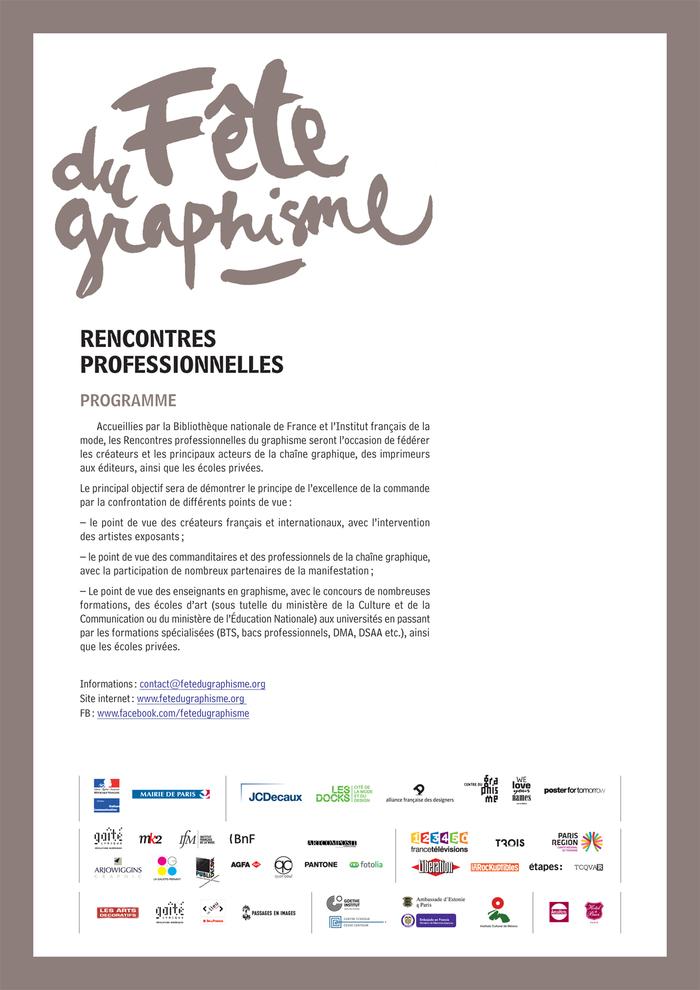 Fête du Graphisme design festival 3