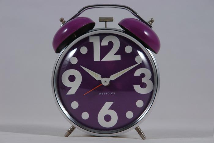 Vintage 1970s twin bell Westclox alarm clocks 1
