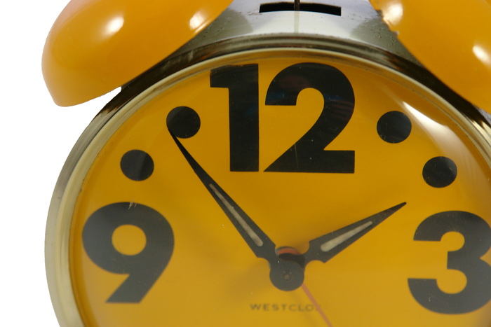 Vintage 1970s twin bell Westclox alarm clocks 2