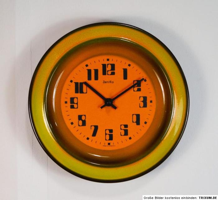 Vintage ceramic ZentRa wall clocks 1