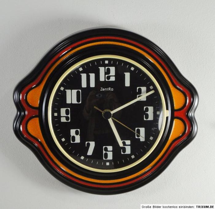 Vintage ceramic ZentRa wall clocks 3