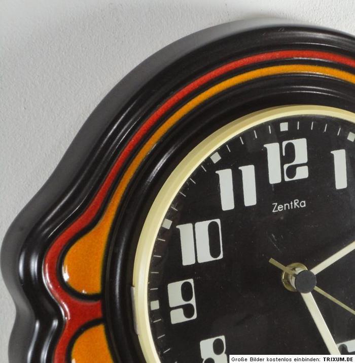 Vintage ceramic ZentRa wall clocks 4