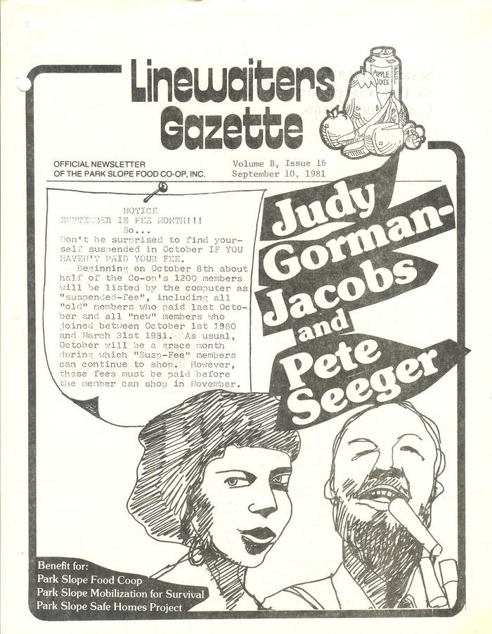 Linewaiters' Gazette, Vol. B, Issue 16