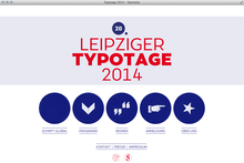 Leipziger Typotage 2014 website