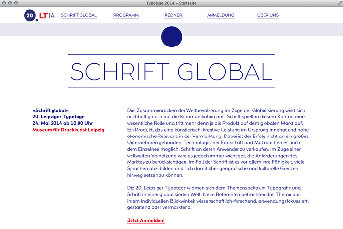 Leipziger Typotage 2014 website 2