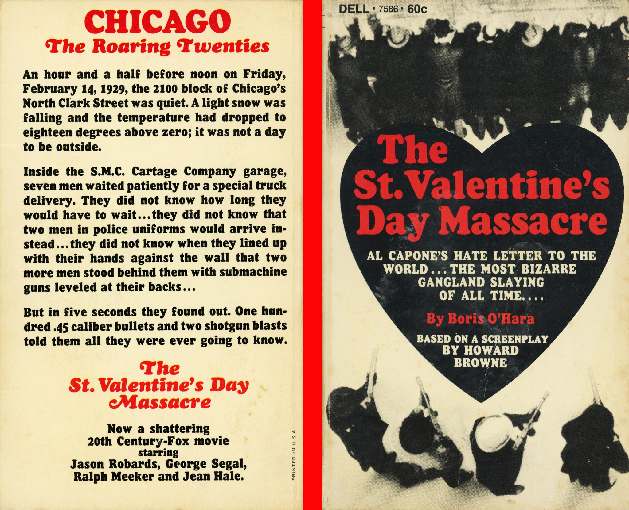 The St Valentine S Day Massacre By Boris O Hara Dell Books Fonts