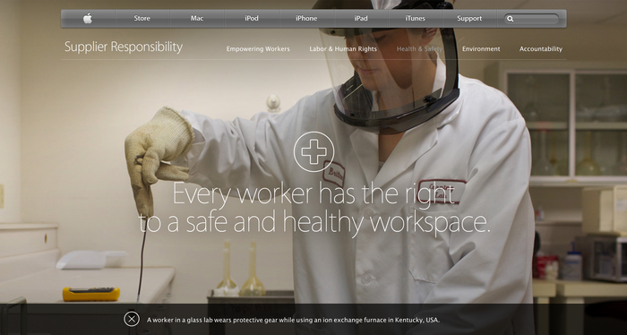 Apple Supplier Responsibility Website 1
