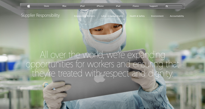 Apple Supplier Responsibility Website 3