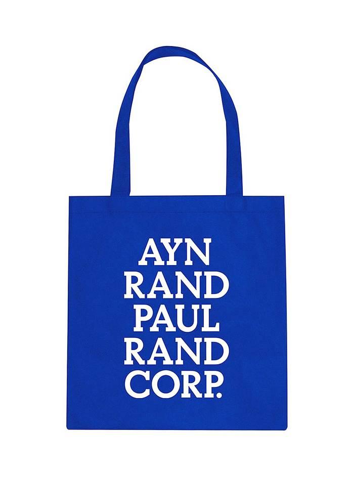 Ayn Rand Paul Rand Corp. Tote Bag