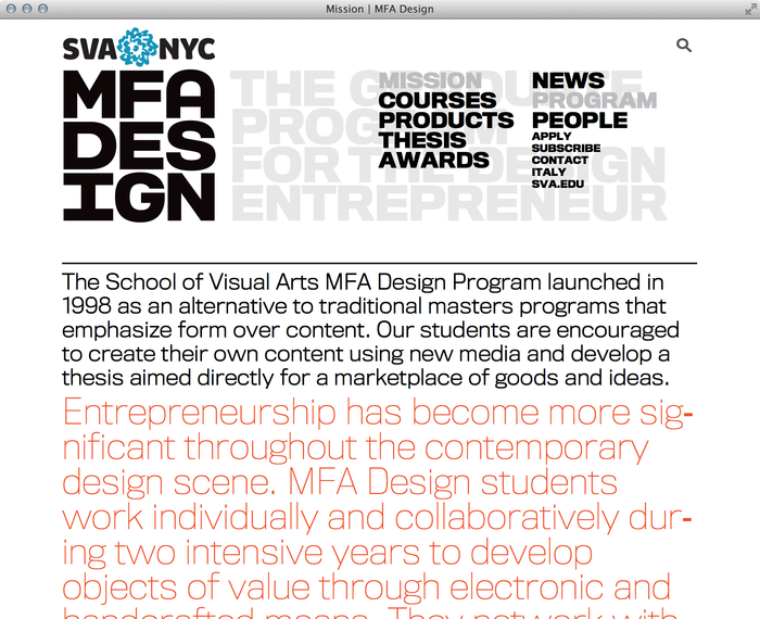 School of Visual Arts MFA Design 1