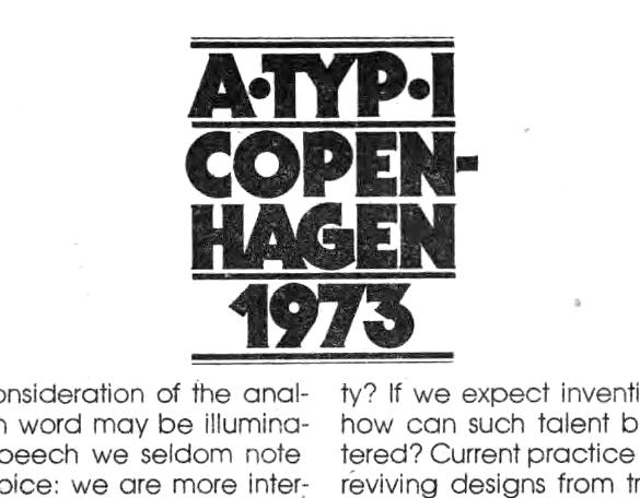 ITC Serif Gothic in U&lc, Vol. 1 No. 2, 1974 4