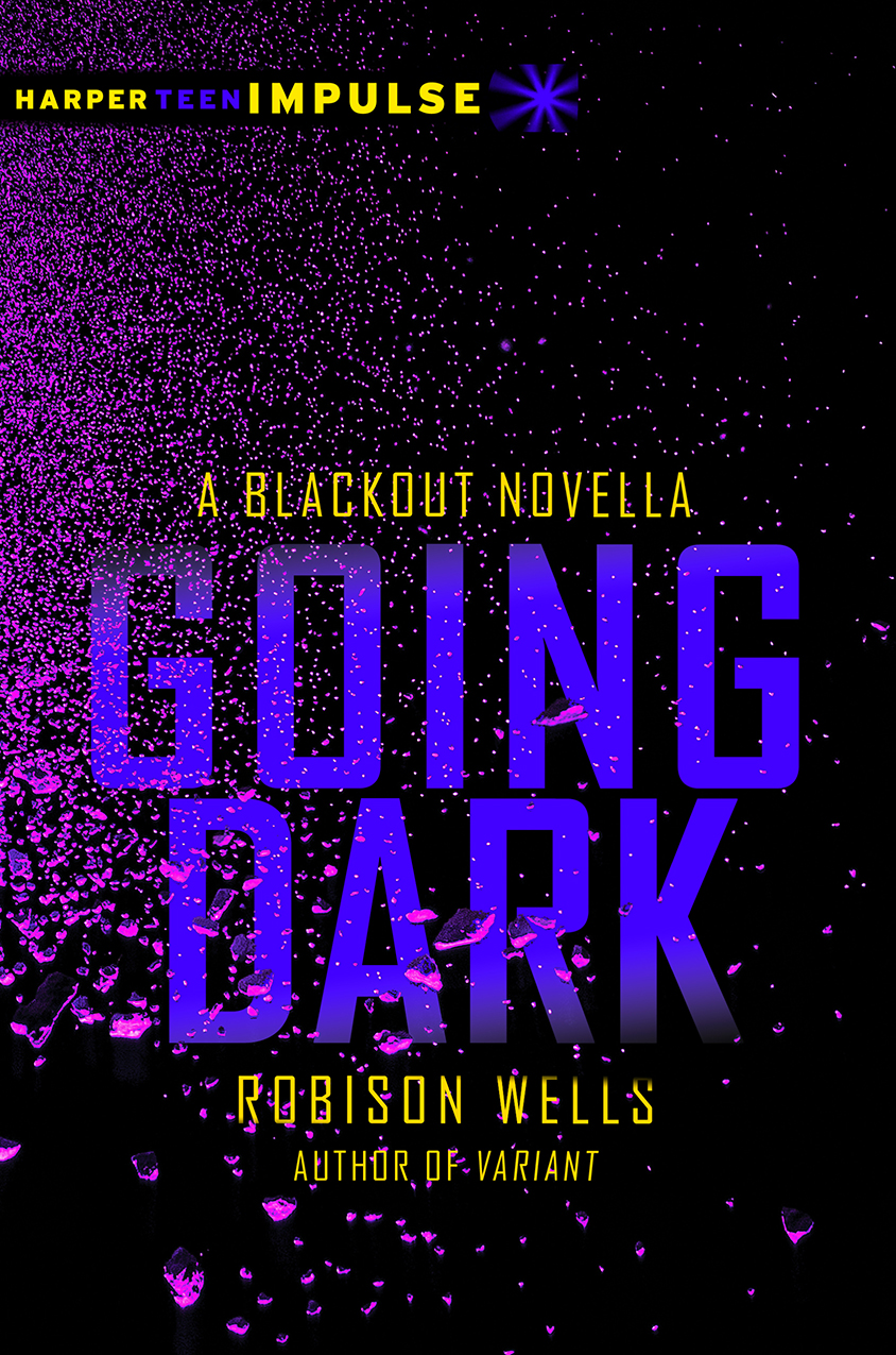 Going Dark, Blackout, Dead Zone book covers - Fonts In Use