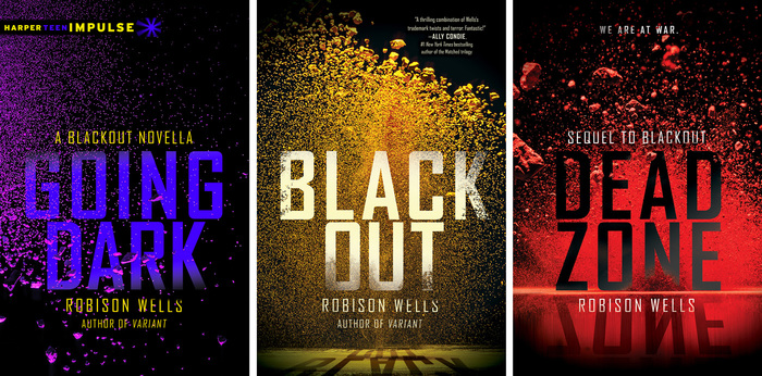 Going Dark, Blackout, Dead Zone book covers 4