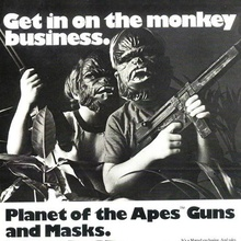 <cite>Planet of the Apes</cite> guns and masks