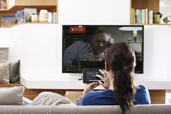 Netflix on a TV set.