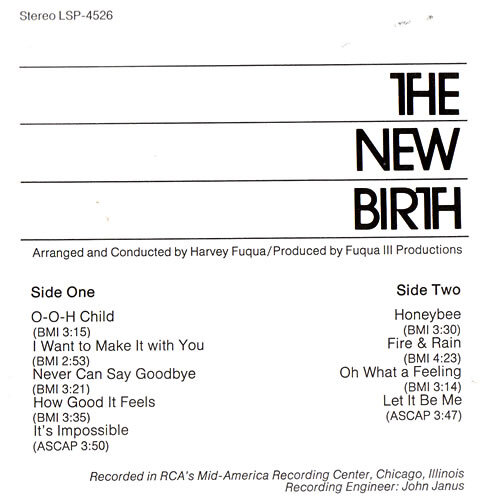 The New Birth – Ain't No Big Thing, But It's Growing album art 2